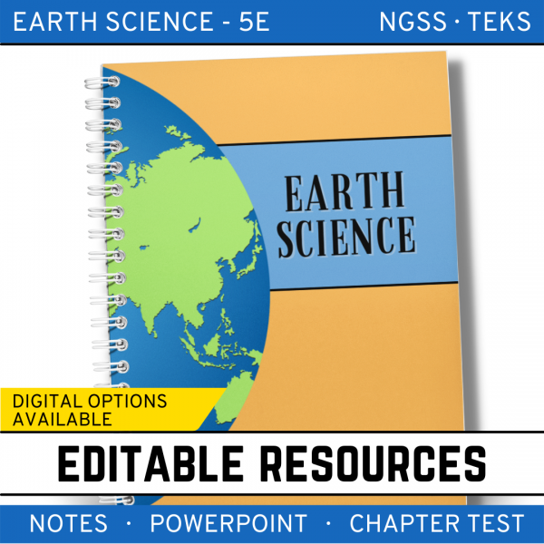 1 3 600x600 - Earth Science Curriculum: PowerPoints, Notes, Chapter Tests Bundle ~ EDITABLE
