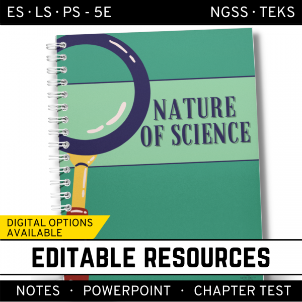 1 5 600x600 - Nature of Science: PowerPoint, Notes & Test ~ EDITABLE!