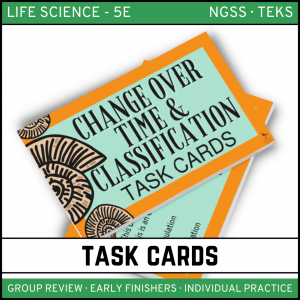 10 2 300x300 - Change Over Time & Classification - Life Science Task Cards