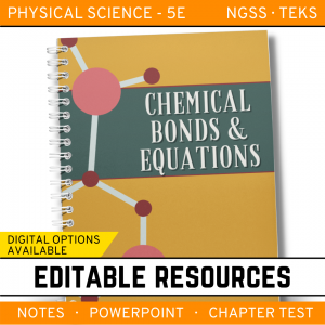 10 5 300x300 - Chemical Bonds and Equations: PS Notes, PowerPoint & Test ~ EDITABLE