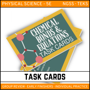 10 6 300x300 - Chemical Bonds and Equations: Physical Science Task Cards