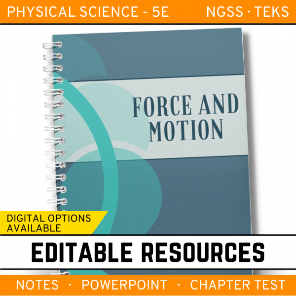 11 4 600x600 - Force & Motion: Physical Science Notes, PowerPoint & Test ~ EDITABLE