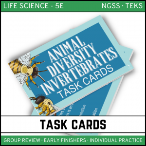 12 1 300x300 - Animal Diversity: Invertebrates - Life Science Task Cards