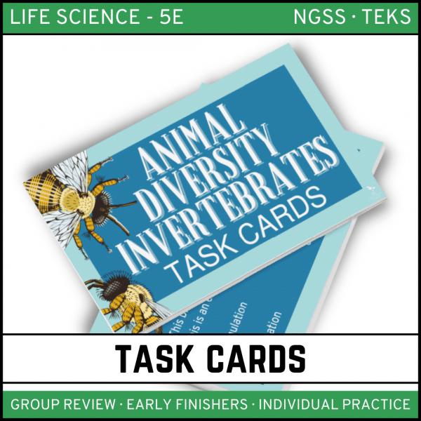 12 1 600x600 - Animal Diversity: Invertebrates - Life Science Task Cards