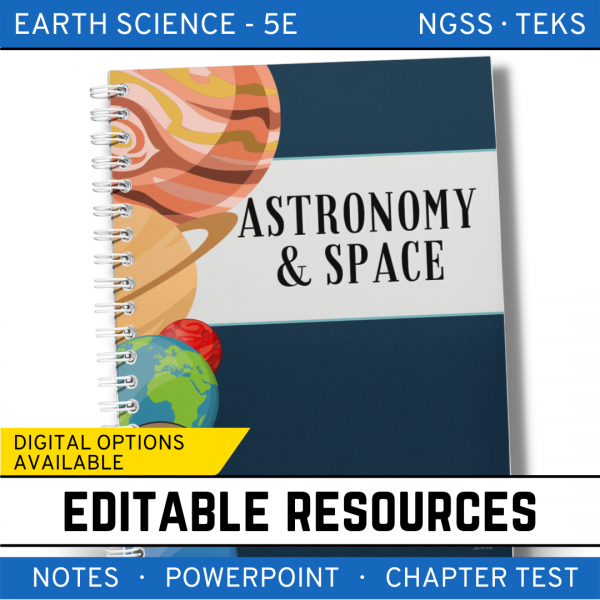 12 2 600x600 - Astronomy and Space Science: Earth Science Notes, PowerPoint & Test ~ EDITABLE!