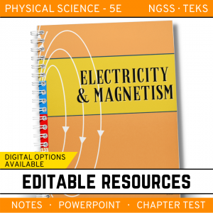 12 4 300x300 - Electricity and Magnetism: Physical Science Notes, PowerPoint & Test ~ EDITABLE