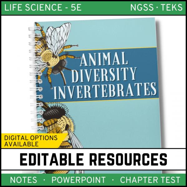12 600x600 - Animal Diversity: Invertebrates Life Science Notes, PowerPoint & Test~ EDITABLE