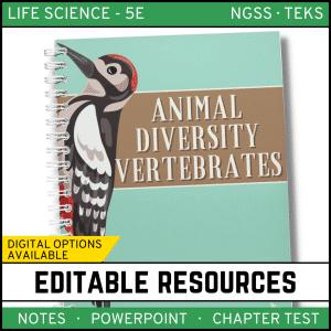 13 300x300 - Animal Diversity: Vertebrates Life Science Notes, PowerPoint & Test~ EDITABLE