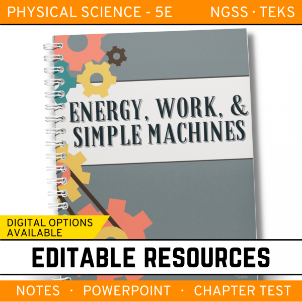 13 4 600x600 - Energy, Work & Simple Machines: PS Notes, PowerPoint and Test ~ EDITABLE