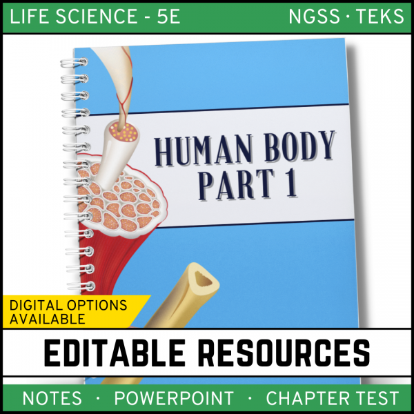 15 600x600 - Human Body - Part 1: Life Science Notes, PowerPoint & Test ~ EDITABLE