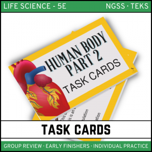 16 1 300x300 - Human Body: Part 2 - Life Science Task Cards