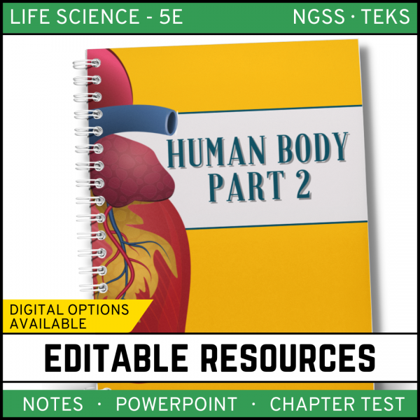 16 600x600 - Human Body - Part 2: Life Science Notes, PowerPoint & Test ~ EDITABLE