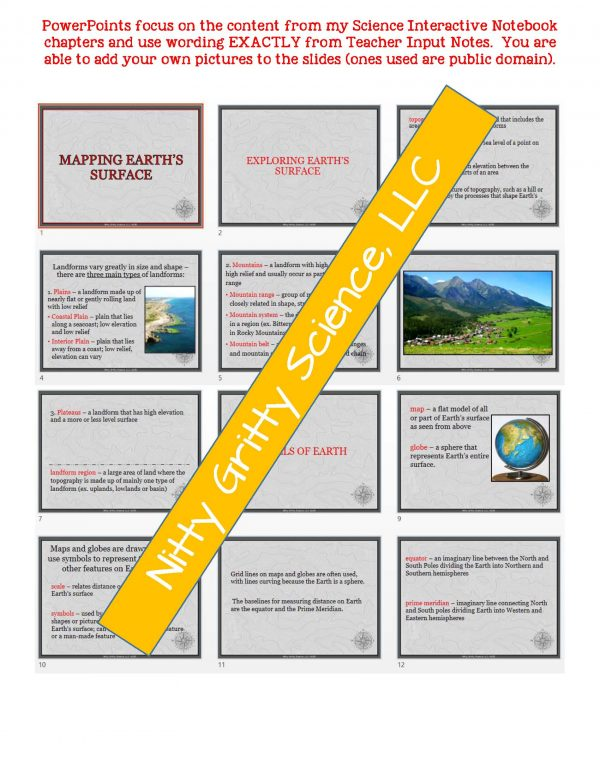 2118428 1 Page 5 600x776 - Mapping Earth's Surface: Earth Science Notes, PowerPoint & Test ~ EDITABLE!