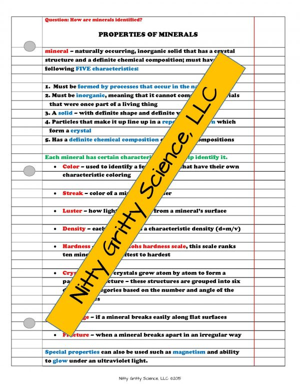 2165218 Page 3 600x776 - Rocks & Minerals: Earth Science Notes, PowerPoint & Chapter Test ~ EDITABLE!
