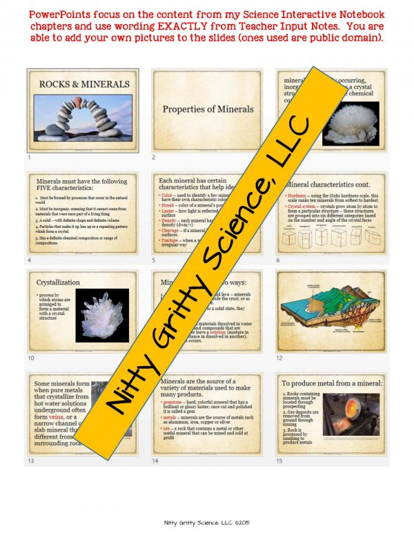 2165218 Page 5 600x776 - Rocks & Minerals: Earth Science Notes, PowerPoint & Chapter Test ~ EDITABLE!