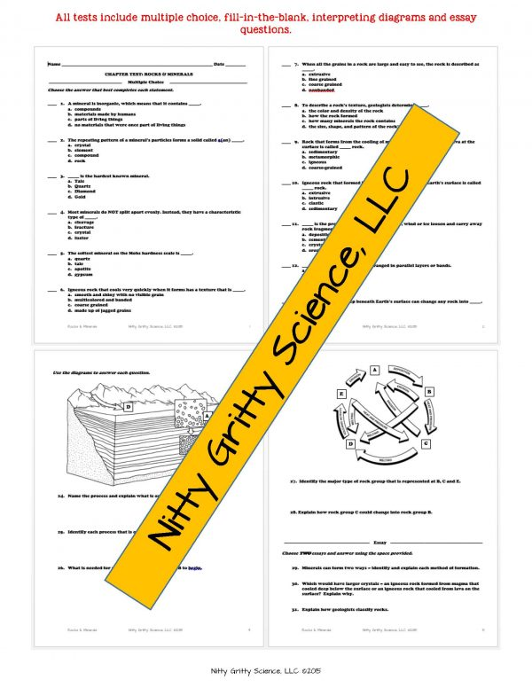2165218 Page 6 600x776 - Rocks & Minerals: Earth Science Notes, PowerPoint & Chapter Test ~ EDITABLE!