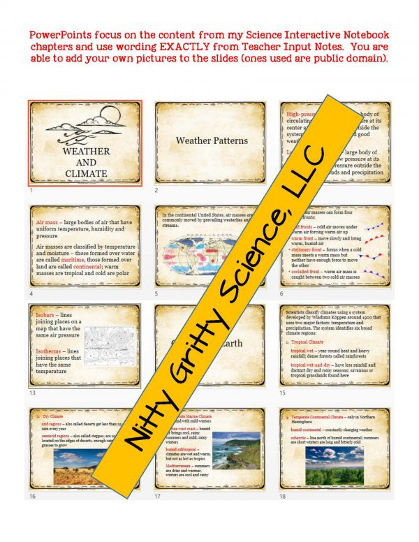 2272725 Page 5 600x776 - Weather & Climate: Earth Science PowerPoint, Notes & Test ~ EDITABLE!