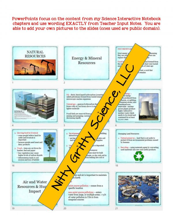 2273845 Page 5 600x776 - Natural Resources: Earth Science PowerPoint, Notes & Test ~ EDITABLE!