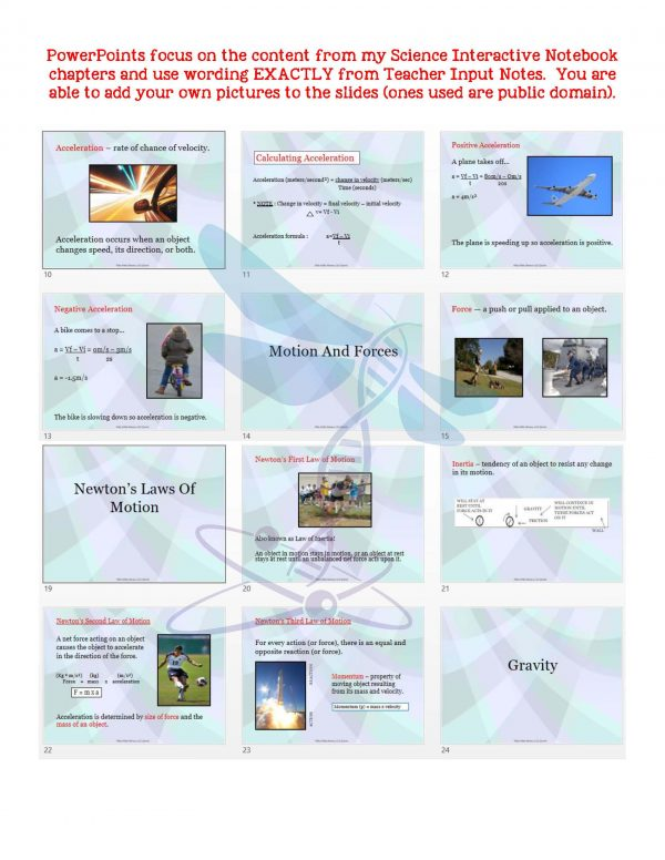 2405912 Page 5 600x776 - Force & Motion: Physical Science Notes, PowerPoint & Test ~ EDITABLE