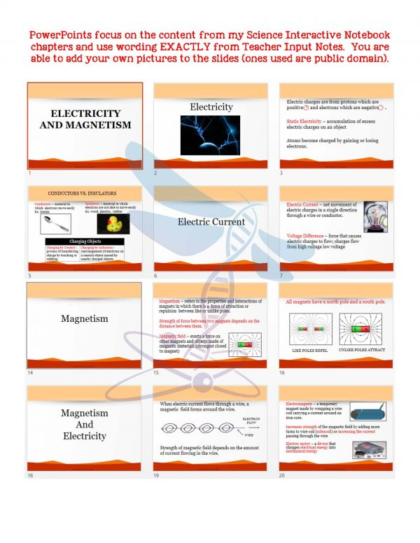 2411412 Page 5 600x776 - Electricity and Magnetism: Physical Science Notes, PowerPoint & Test ~ EDITABLE