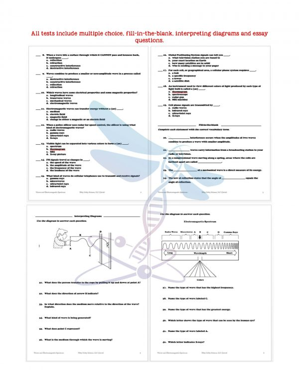 2411453 Page 6 600x776 - Waves & Electromagnetic Spectrum: Notes, PowerPoint & Test ~EDITABLE