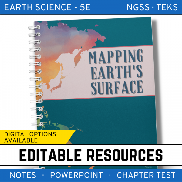 3 3 600x600 - Mapping Earth's Surface: Earth Science Notes, PowerPoint & Test ~ EDITABLE!