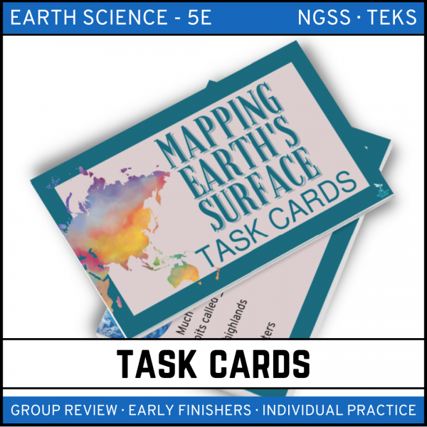 3 4 600x600 - Mapping Earth's Surface: Earth Science Task Cards