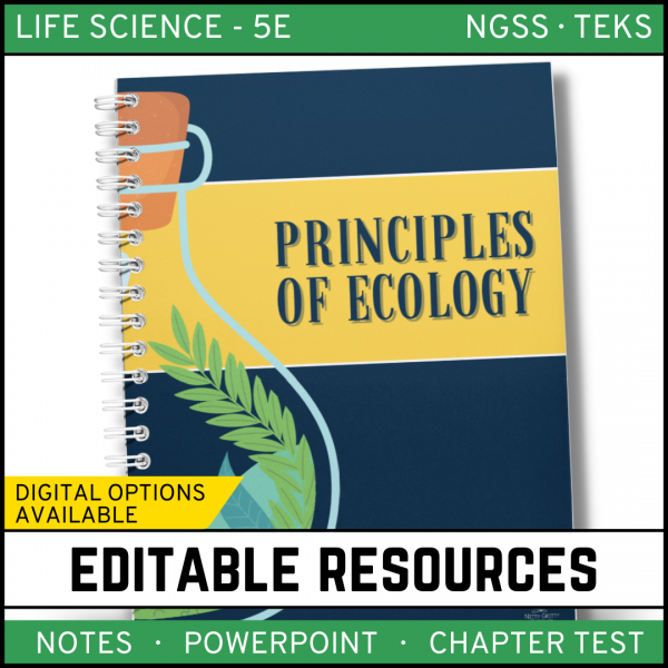 4 1 600x600 - Principles of Ecology: Life Science PowerPoint, Notes and Test ~ EDITABLE!