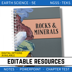 4 3 300x300 - Rocks & Minerals: Earth Science Notes, PowerPoint & Chapter Test ~ EDITABLE!