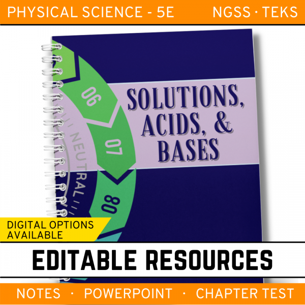4 5 600x600 - Solutions, Acids and Bases: Physical Science Notes, PowerPoint & Test ~ EDITABLE