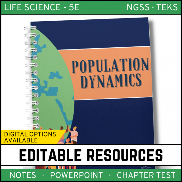 5 1 600x600 - Population Dynamics: Life Science Notes, PowerPoint and Test ~ EDITABLE!