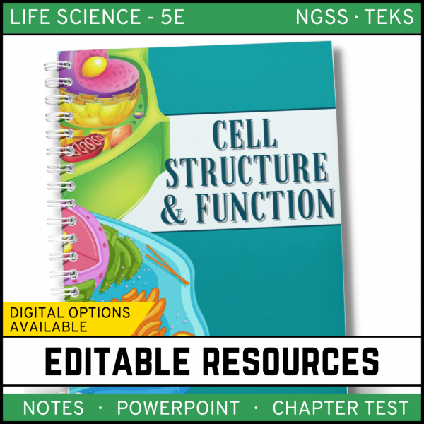 6 1 600x600 - Cell Structure and Function: Life Science Notes, PowerPoint and Test ~ EDITABLE!