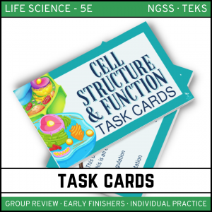 6 2 300x300 - Cells: Structure and Function - Life Science Task Cards