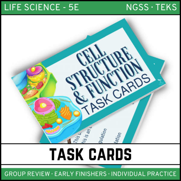 6 2 600x600 - Cells: Structure and Function - Life Science Task Cards