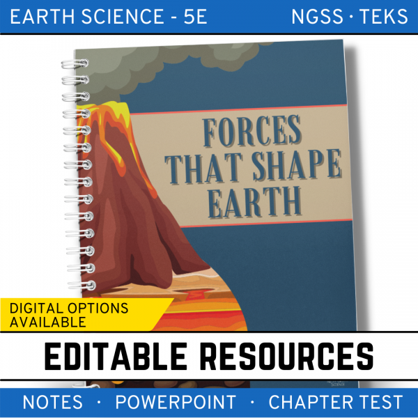 6 3 600x600 - Forces that Shape Earth: Earth Science Notes, PowerPoint & Test ~ EDITABLE!