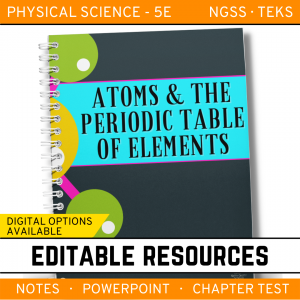 6 5 300x300 - Atoms and the Periodic Table: PS Notes, PowerPoint & Test ~ EDITABLE