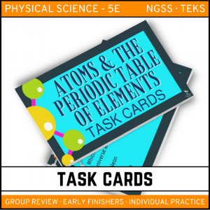 6 6 300x300 - Atoms and the Periodic Table: Physical Science Task Cards