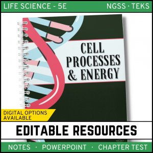 7 1 300x300 - Cell Processes and Energy Life Science Notes, PowerPoint & Test~ EDITABLE