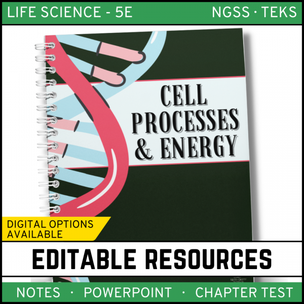 7 1 600x600 - Cell Processes and Energy Life Science Notes, PowerPoint & Test~ EDITABLE