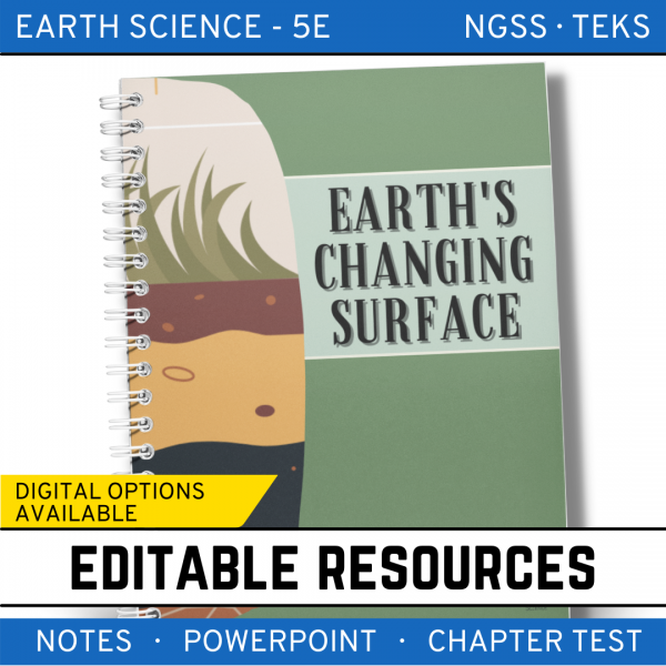 7 3 600x600 - Earth's Changing Surface: Earth Science PowerPoint, Notes & Test ~ EDITABLE!