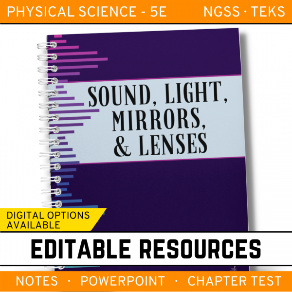 7 5 600x600 - Sound, Light, Mirrors & Lenses: PS Notes, PowerPoint & Test ~ EDITABLE