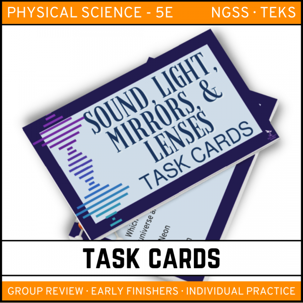7 6 600x600 - Sound, Light, Mirrors and Lenses: Physical Science Task Cards