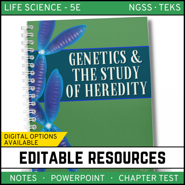 8 1 600x600 - Genetics - Study of Heredity: Life Science Notes, PowerPoint and Test ~ EDITABLE