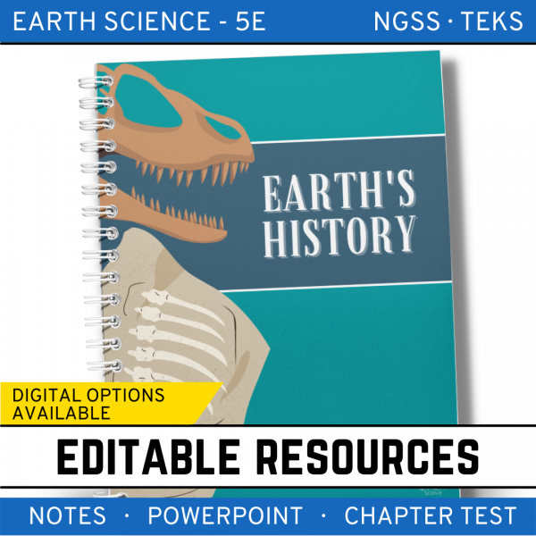 8 3 600x600 - Earth's History: Earth Science PowerPoint, Notes & Test ~ EDITABLE!