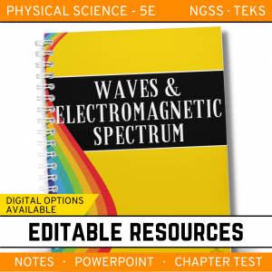 8 5 300x300 - Waves & Electromagnetic Spectrum: Notes, PowerPoint & Test ~EDITABLE
