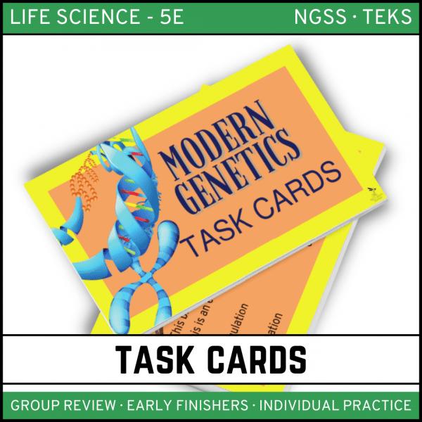 9 2 600x600 - Modern Genetics - Life Science Task Cards