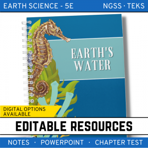 9 3 300x300 - Earth's Waters: Earth Science Notes, PowerPoint & Test ~ EDITABLE!