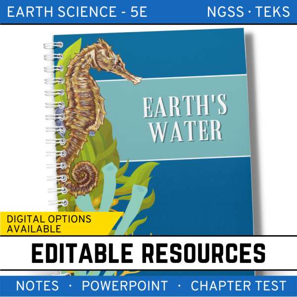9 3 600x600 - Earth's Waters: Earth Science Notes, PowerPoint & Test ~ EDITABLE!