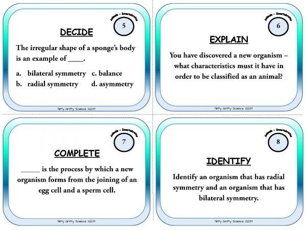Animal Diversity Invertebrates Page 04 600x450 - Animal Diversity: Invertebrates - Life Science Task Cards