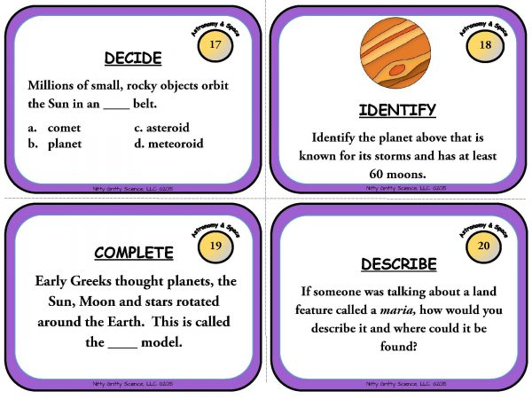 Astronomy and Space Science Page 07 600x450 - Astronomy and Space Science: Earth Science Task Cards